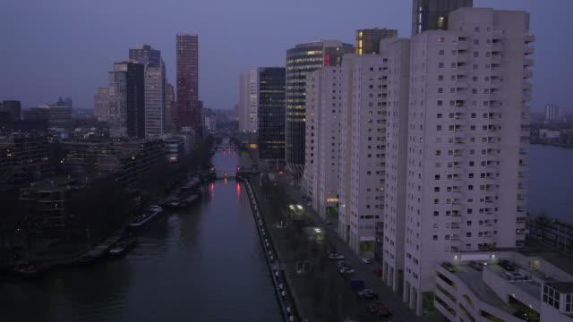 rotterdam skyline - rotterdam video stock e b–roll