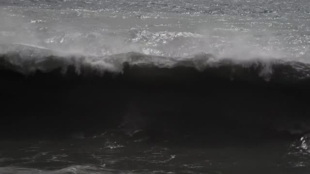 rough sea and noisy waves