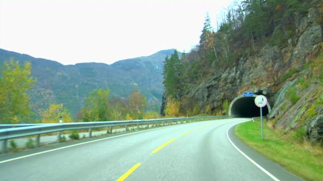 Rough speeding through landscape video