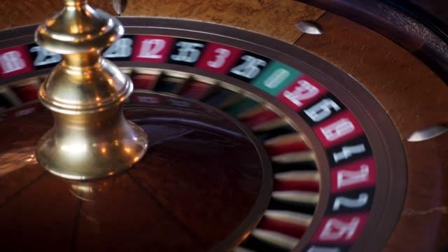 roulette dans le casino de filature - Vidéo