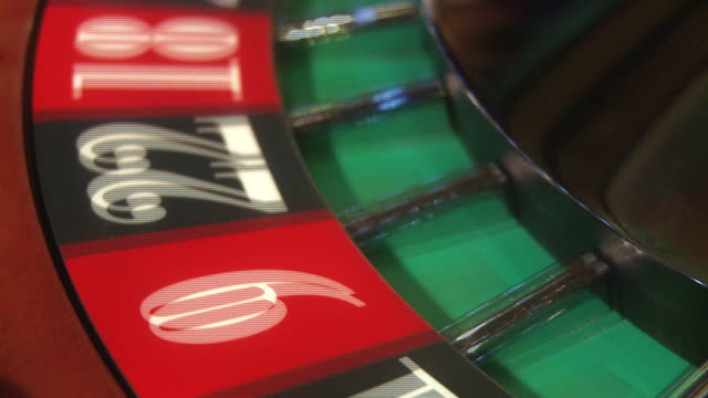 Roulette numbers spinning video