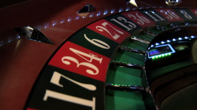 Roulette wheel closeup video