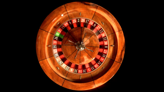 Roulette Wheel from above - LOOP video