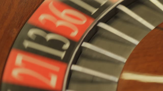 Roulette wheel spinning with ball video