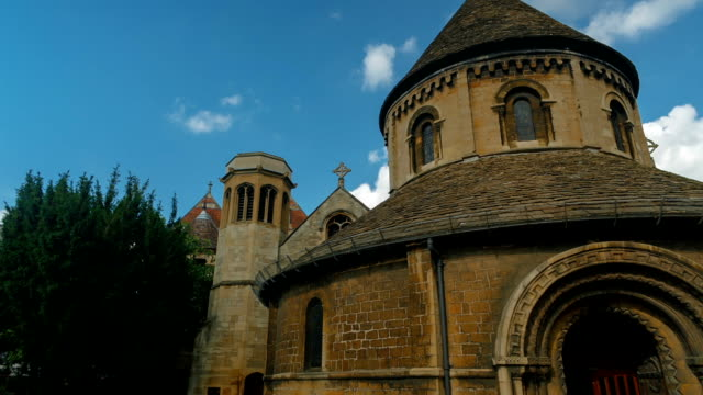 Round Church, Cambridge, England, UK video