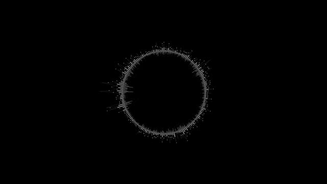 Round Equalizer on a Black Background video