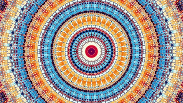 stockvideo's en b-roll-footage met ronde mandala patroon. - mandala