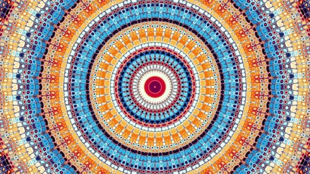 round mandala pattern. - мандала стоковые видео и кадры b-roll