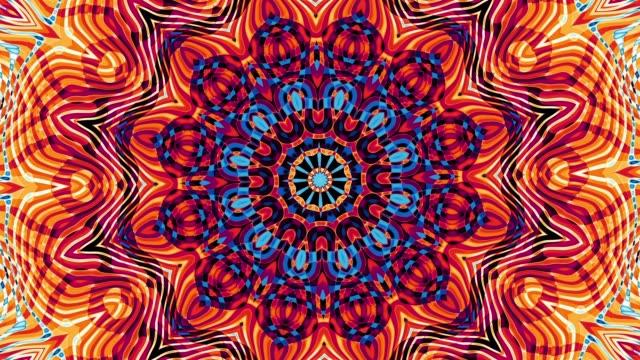 runda mandala mönster. - mandala bildbanksvideor och videomaterial från bakom kulisserna