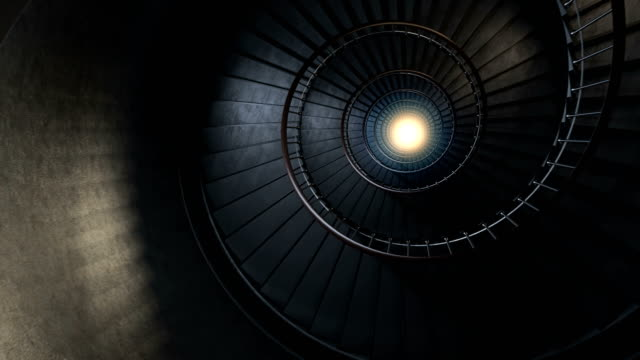 round spiral staircase. - abstract architecture стоковые видео и кадры b-roll