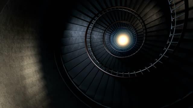 rund spiraltrappa. - architecture bildbanksvideor och videomaterial från bakom kulisserna
