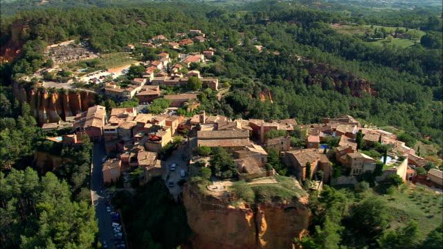RoUSSillon  - Aerial View - Provence-Alpes-Côte d'Azur, Vaucluse, Arrondissement d'Apt, France video
