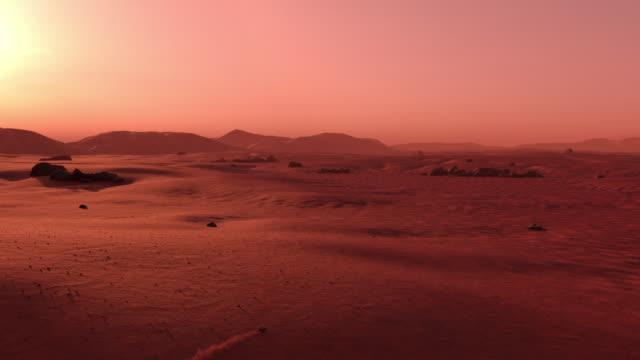 漫遊者騎在火星表面 - 水平面角度 個影片檔及 b 捲影像