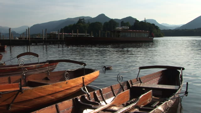 Row boats in Lake district video