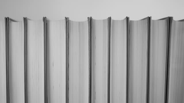白黒の本の列 - 本点の映像素材/bロール