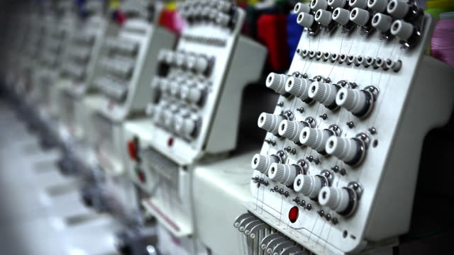 Row of Industrial Sewing Machines video