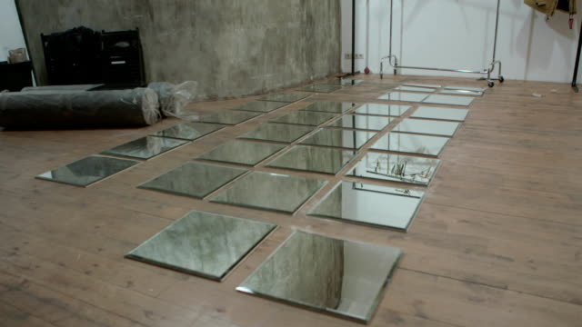 Row of Square Mirrors video