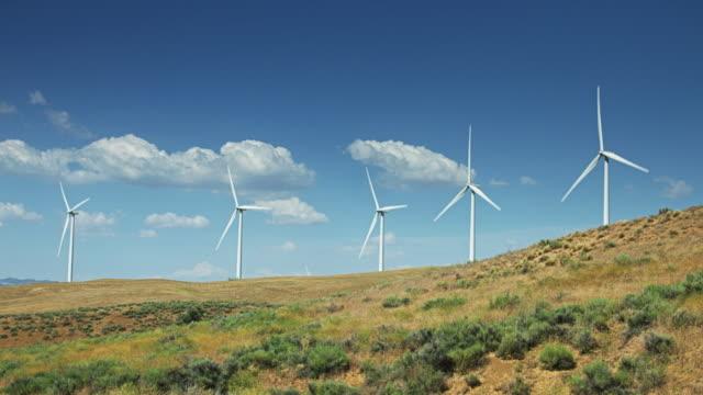 Row of Turbines on Ridge video