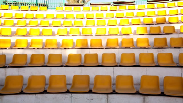 Rows of empty seats video
