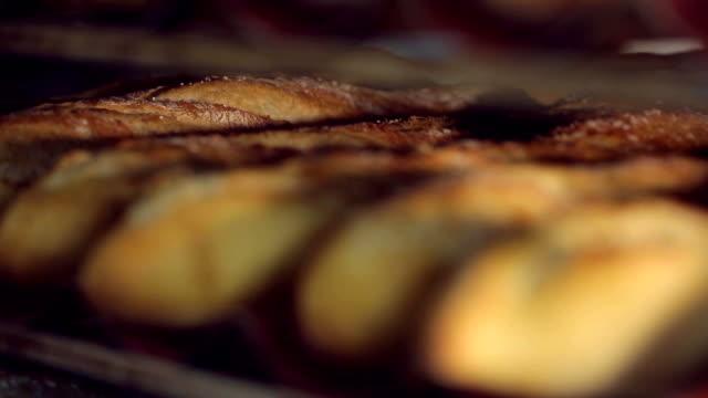 Rows of Fresh Bread video