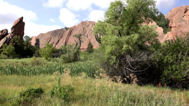 Roxborough State Park red rocks along Fountain Trail Colorado Rocky Mountains video