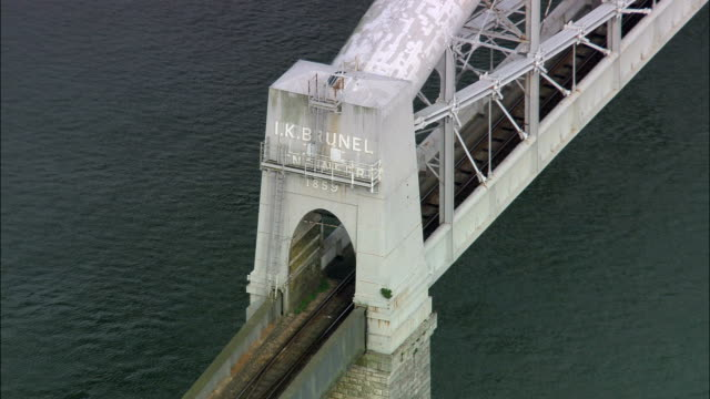Royal Albert And Tamar Bridges  - Aerial View - England, Cornwall, United Kingdom video