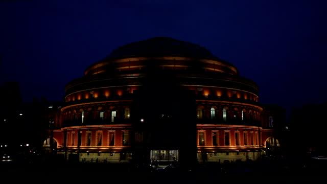 Royal Albert Hall at night video