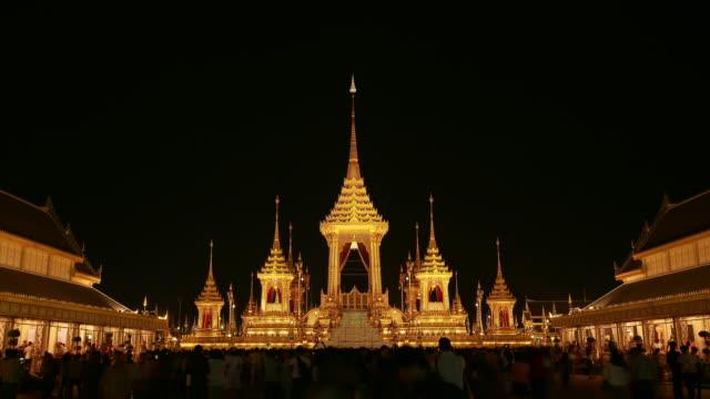 royal crematorium - kungen av thailand bildbanksvideor och videomaterial från bakom kulisserna