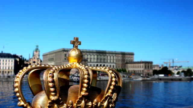 royal crown royal crown in front off castle royalty stock videos & royalty-free footage