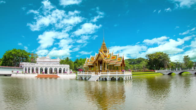 Royal Palace, Bang Pa-in, a tourist attraction video