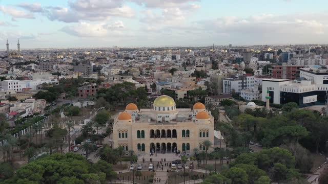 palazzo reale di tripoli - libia video stock e b–roll