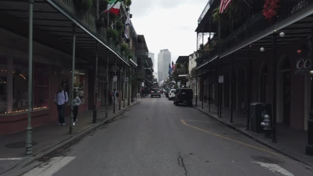 Royal Street (Shops and Bars) in the French Quarter of New Orleans during the Day