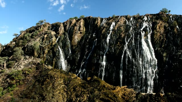 Ruacana Falls on the Kunene River in Northern Namibia video