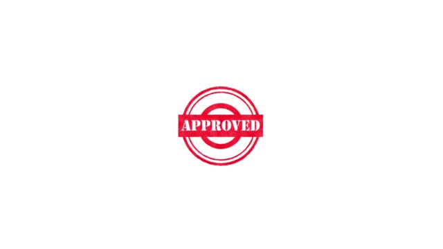 rubber stamp - approved - badge video stock e b–roll