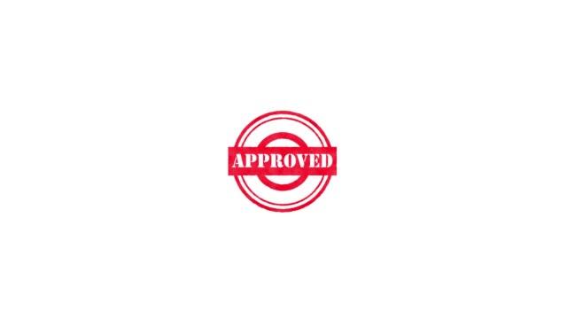vídeos de stock e filmes b-roll de rubber stamp - approved - badge