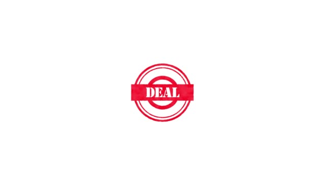 rubber stamp - deal - badge video stock e b–roll