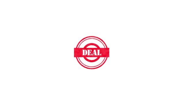vídeos de stock e filmes b-roll de rubber stamp - deal - badge