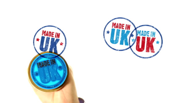 MADE IN UK rubber stamped fills whole screen video