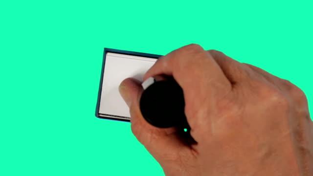 고무 스탬핑 co id - stamp 스톡 비디오 및 b-롤 화면