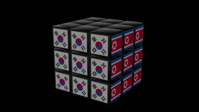 Rubiks-North Korea vs South Korea video
