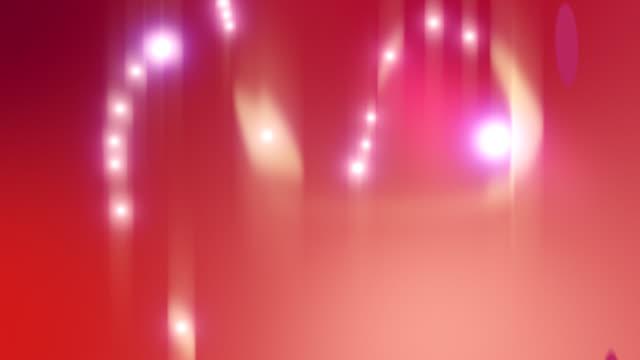 Ruby pearls flow animation loop video