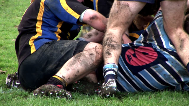Rugby tackle, HD PAL Rugby tackle rugby stock videos & royalty-free footage