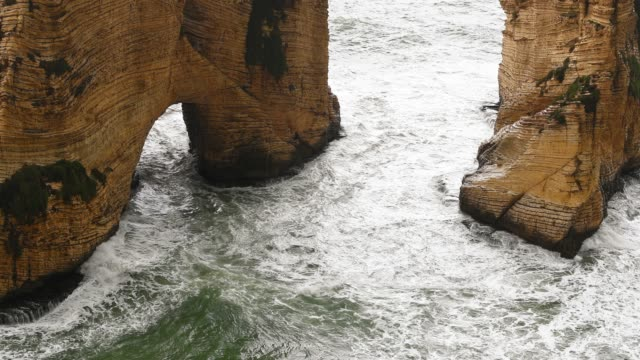 rugged coastline of beirut lebanon - mitologia video stock e b–roll