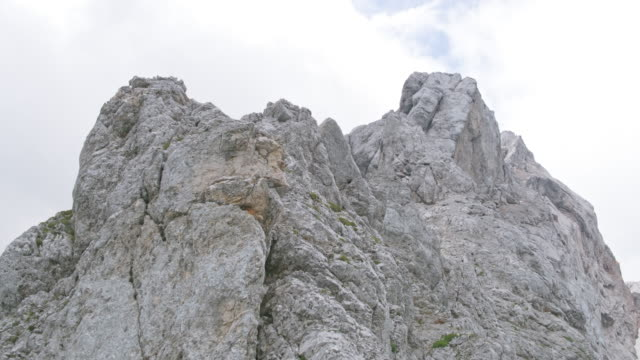 AERIAL Rugged mountain top