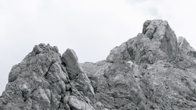AERIAL Rugged ridges of a mountain top