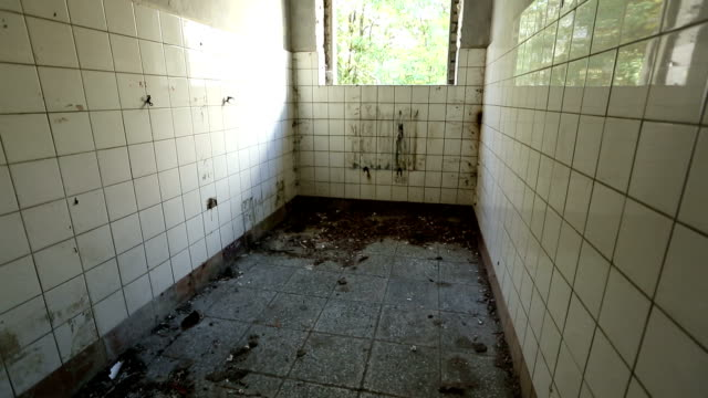 Ruined bathroom in an abandoned house video