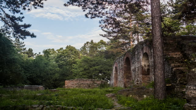 Ruins in the Forest with Beautiful Light video
