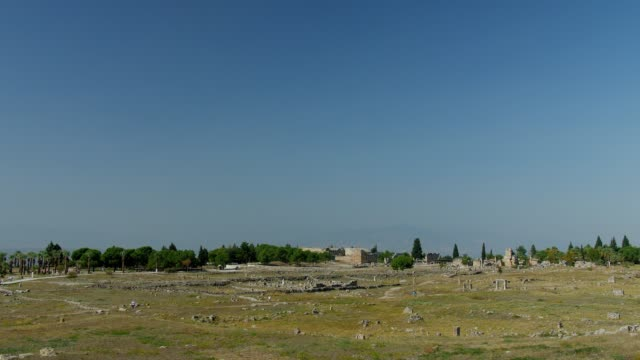 Ruins of an ancient city Hierapolis in Pamukkale.