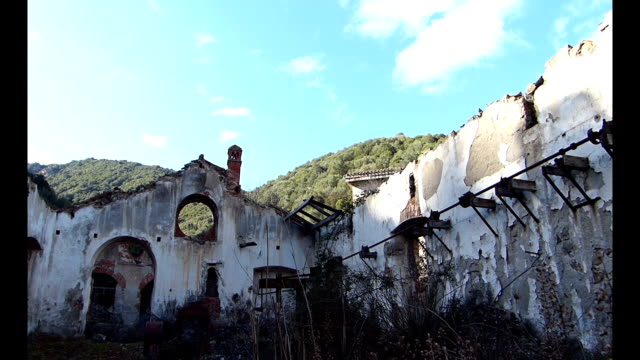 Ruins of an old mining village video