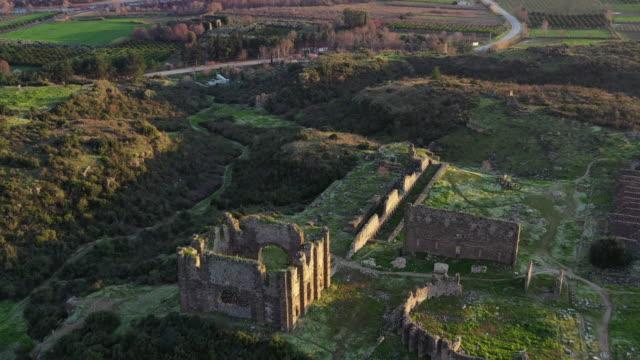 ruiner av aspendos - stenhus bildbanksvideor och videomaterial från bakom kulisserna